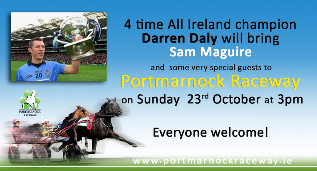 Sam Maguire  cup at Portmarnock Raceway
